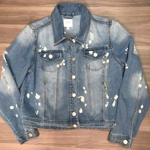 NWT Active USA Distressed Denim Jacket